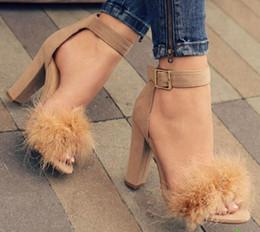 Wholesale Heels Peep Toe Buckle - New 2018 summer shoes women sexy high heel sandals designer shoes women luxury 2018 sandals women