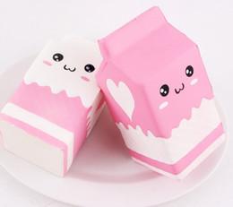 Картонные коробки онлайн-Молоко коробка болотистый коробка Каваи большой Squishies игрушка запах имитация симпатичные медленный рост продовольствия DHL Бесплатная доставка