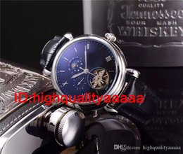 Wholesale Moon Watch Luxury - flywheetourbillon Golden watch men Complications Perpetual Calendar moon phase PP automatic black dial skeleton wristWatch Men dress Watches