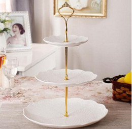 Wholesale Cake Stand Handles Wholesale - Tier Cake Stands Plate Handle Fitting Silver gold Wedding Party Crown Rod