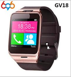 2019 gv18 водонепроницаемые часы Smart Watch Gv18 Aplus Clock With Camera SIM TF Card Slot Waterproof Smartwatch For Android&IOS phone PK Dz09 дешево gv18 водонепроницаемые часы