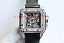 2019 ссылки на список роскошные высокое качество горячий продавец полный белый алмаз серии дата многофункциональный хронометраж VK кварцевые 45 мм мужские наручные часы из нержавеющей стали
