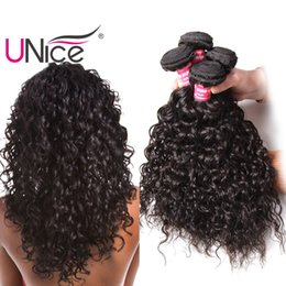 Wholesale Cheap Wavy Indian Remy Hair - UNice Hair Remy 8a Brazilian Water Wave 5 Bundles 100% Human Hair Extensions Wholesale Cheap Hair Weaves Nice Bulk Wet And Wavy 8-26inch
