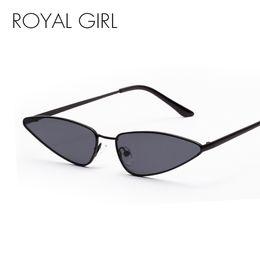 fa9be64206 ROYAL GIRL Sexy Retro Women Cat Eye Sunglasses Women 2018 Summer Small  Metal Frame Black Yellow Purple Ocean Sun Glasses ss269