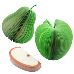 Poire en papier en Ligne-1 Pcs DIY Mignon Apple Vert Poire Notes Papier Fruits Légumes Blocs-Notes Kawaii Autocollants Papier Bureau Papelaria Fournitures