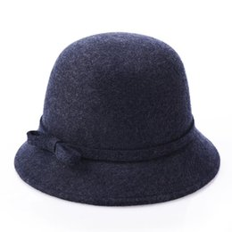 Full Wool Felt Cloche Hat Woman autumn winter bucket hats Beautiful  Bell-shape ladies hat Professional Hat Wholesaler Nice Gift for Girls 25bcaee4fd38