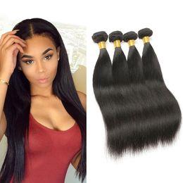 Wholesale Free Hair Products - Peruvian Human Hair Extensions Peruvian Virgin Hair Straight 4pcs lots Hair Products Deals Natural Color Free Shipping