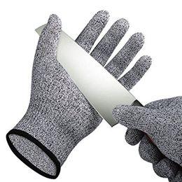 Антирежущие перчатки онлайн-Безопасность Анти Вырезать Устойчивые Перчатки Вырезать Доказательство Колоть Устойчивостью Металлической Сетки Мясник Перчатки Пищевой Уровень 5 Кухонные Инструменты B