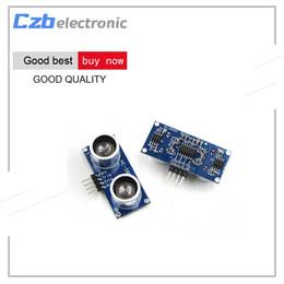 Wholesale Ultrasonic Detectors - HC-SR04 Free Shiping To World Ultrasonic Wave Detector Ranging Module HC-SR04 HC SR04 HCSR04 Distance Sensor For Arduino