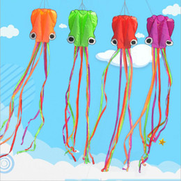 Wholesale kite line stunt - 420CM New Octopus Shape Single Line Kite with Flying Tools Stunt Software Power Fun Outdoort Game Flying Kite Easy To Fly