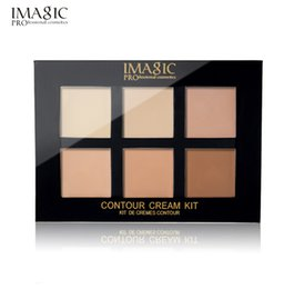 net kits Promo Codes - IMAGIC Concealer Cream Contour Palette Kit Pro Makeup Palatte 6 Colors Concealer Face Primer Net 30g 1pcs