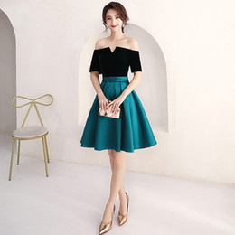 Wholesale short coctail - New Design Cheap Coctail Bridesmaid Homecoming Dresses Knee Length Off Shoulder Short Special Occasion Graduation Dresses for Prom Party