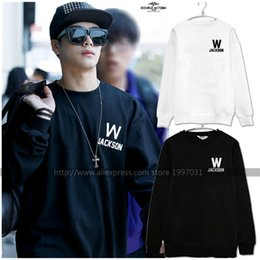 Wholesale Birthday Sweater - KPOP GOT7 Leader Wang Jackson 852 same style name birthday number Pullovers sweater