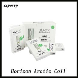 Horizonte, ártico, bobina, cabeça on-line-Horizon Ártico BTC BTDC Bobinas horizonte de substituição tanque ártico Bobina 0.2ohm 0.5ohm ártico atomizador Dual Coil Head livre DHL 0202035 -3