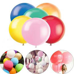 décorations de mariage violet foncé Promotion Mariage Valentine Party Deroration Round 36 pouces énorme ballon géant coloré 90cm