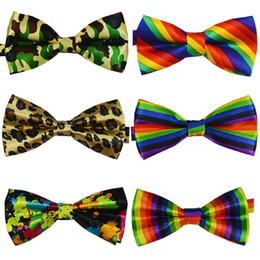 Мужские галстуки-бабочки онлайн-NEW Men Classic Bow ties Fashion Neckwear Adjustable Mens wedding Polyester Pre-Tied bowties 2014 Male Striped Leopard ties