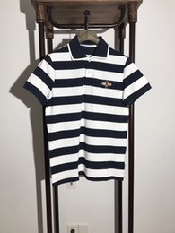 Wholesale Ralph Polo Xxl - 2018 High Quality Tops &Tees Men's Bees stripe embroidery Polo Shirts fashion Style Summer Striped brand short sleeve polo shirt men XXL
