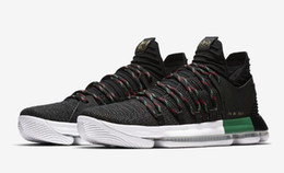 Wholesale Kd Mens - Free Shipping KD 10 BHM Basketball Shoes Mens Black History Month City Edition CNY Sneakers