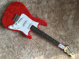 Wholesale Quilted Guitar - James Tyler Red quilted maple body Custom guitar Ebony fingerboard sss pickups ST electric guitar High quality in stock
