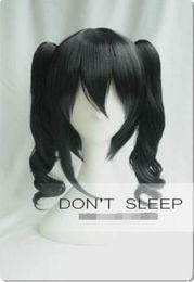 parrucca di ponytail bianca nera Sconti Ama vivi! Nico Yazawa Short Black Clip Ponytail White Day Cosplay Parrucche per capelli
