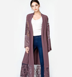 Wholesale women gauze long dresses - The new Muslim women dress cardigan embroidered with Long embroidery gauze cardiganin the comfort of the long skirt
