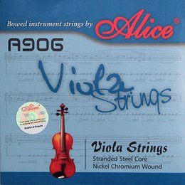 Wholesale Alice Strings - Wholesale- Alice A906 Viola Strings Nickel Chromium Wound Nickel -Plated Ball-End