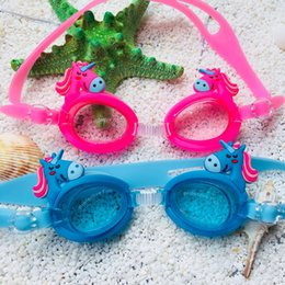 cd188c6363c frame fog NZ - Kids Swimming Goggles Unicorn Eyeglasses for Boys Girls Swim  Glasses Children Fashion