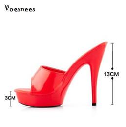 Wholesale Blue Wedding Flip Flops - Woman Wedding Shoes Sandals 2016 Nightclub Sexy High-heeled Shoes Slippers Fine With Platform Sandal Heel High15cm Summer Pumps
