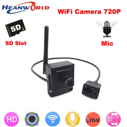 Wholesale hd pinhole camera hidden - New 720P mini IP camera Hidden wireless p2p cam Onvif HD wifi cameras cctv security system with audio for home door video