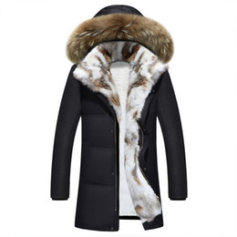 Wholesale Long Men S Parka Jackets - 2017 new winter jackets thick Men's & women's leisure down jacket high quality thick warm with Fur hooded parka big size S-5XL