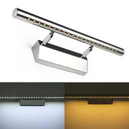 LED Duvar ışık Banyo Aynası sıcak beyaz / beyaz washroon duvar Lambası armatürleri Alüminyum boby Paslanmaz Çelik cheap led lights for bathroom fixtures nereden banyo armatürleri için ledli ışıklar tedarikçiler