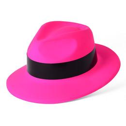 50bc78c533a05 Sombrero de copa plástico de neón barato del partido de los productos de la  moda de 4 colores con resbalón de papel negro