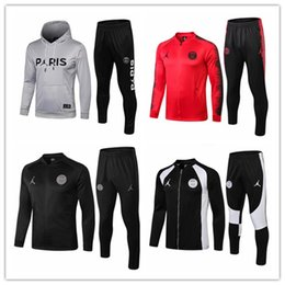 Jordam X Traje de chaqueta PSG Champions League Survetement 18 19 PSG MBAPPE, chaquetas de fútbol POGBA, chándal de fútbol, chándal de fútbol, HOODI desde fabricantes