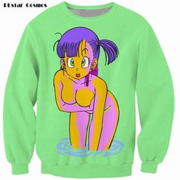 Wholesale Dragon Ball Sweatshirt - Wholesale- PLstar Cosmos Bulma 3D Print Sweatshirt vibrant jumper animated Dragon Ball Z Characters Cartoon Sweats Women Men Outfits Hoodie