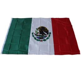 2019 banderas de banderas al aire libre 3x5 'Pies Poliéster Bandera de la nación de México - 90x150cm País de México Interior Banner Desfile de actividades al aire libre Festival Decoración del hogar rebajas banderas de banderas al aire libre