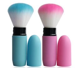Wholesale Retractable Blusher Brush - Portable Retractable Makeup Blush Brush Cosmetic Adjustable Face Power Kabuki Blending Make up Flexible Brushes Maquiagem
