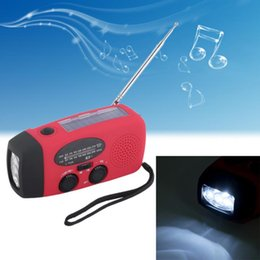 Wholesale Emergency Radios - Outdoor Emergency Solar Hand Crank Self Powered AM FM NOAA Weather Radio Portable Music Player