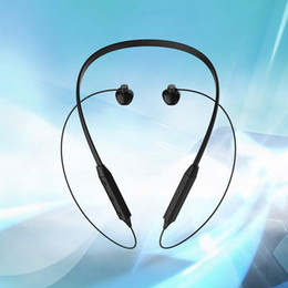 Wholesale Wireless Noise Cancellation - Newest HBQ-IX Bluetooth V4.2 Neck-Hanging In-Ear Earphone Noise Cancellation Waterproof Headset for iPhone Samsung with box r30