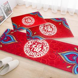 décorations de porte du nouvel an chinois Promotion Nouveau Chinois Bienvenue Porte Tapis Salle De Bains Cuisine Tapis De Sol Animal Chambre Paillasson, Salle De Bains Tapis Tatami Nouvel An de mariage décoration
