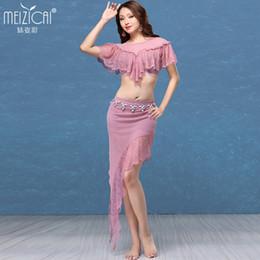 Сексуальная юбка для танца живота онлайн-Lady Belly Dance Costumes Girls Sexy  Dance Suit Belly Top and Skirt Girls Sexy  Fairy Dress D-0724