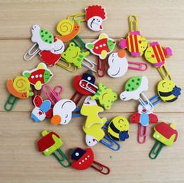 clipe de animais Desconto New hot sale Criativo dos desenhos animados de madeira clipe Adorável animal bookmark Mini bonito pin Clipe De Papel T4H0315