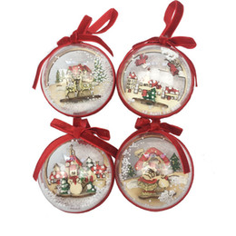 Canada Plus Size Christmas Tress Decorations Ball Transparent En Plastique Clair Bauble Ornement Cadeau Cadeau Boîte Décoration Offre