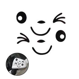 Nuevo diseño de etiqueta de coche online-2 UNIDS Nuevo Diseño Impermeable 3D Sonrisa Cara Decoración Etiqueta Engomada Para El Espejo Lateral del coche Retrovisor Auto Car Styling Etiqueta Auto