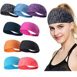2019 exercícios de fitness bandas Esporte yoga headband treino gym correndo headbands quick drying bandas de cabelo elástico para esportes fitness boa qualidade desconto exercícios de fitness bandas