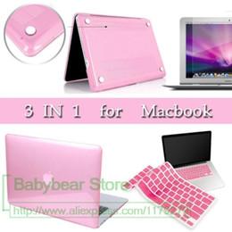 Wholesale Macbook Pro 15 Matte Case - 3in1 For New MacBook Pro 13 15 Case 2016 2017 A1706 A1707 with touch Bar & A1708 without touch bar Matte Hard Case 13.3''