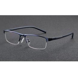 Occhiali da lettura a mezza orlo Occhiali fotocromatici Occhiali da vista a colori cambia occhiali Occhiali da vista a forma di donne in metallo blu telaio + 1.0 ~ + 3.5 da