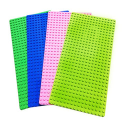 Wholesale Diy Boards - Baseplate Flexible Stable Diy Assembled Single Side Board 16*32 Dot Colorful Bulky Grain Building Block Plates Free Shipping 9 2qf W