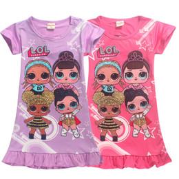 Menina dos desenhos animados causal vestido anime lolita impressão algodão vestido para 4-12years meninas crianças crianças verão macio mini vestido de roupas de