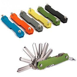 Wholesale Alloy Opener - Multifunction Key Holder EDC Aluminum Smart Key Wallet Key Organizer Metal Keychain