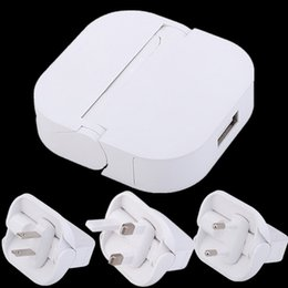 Wholesale Small Chinese Phone - Flat Flod Rotate Wall charger Eu US UK Small ac home travel power adapter for iphone 7 8 x samsung s7 s8 android phone